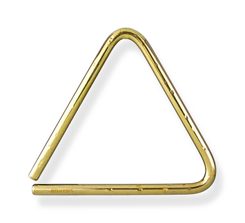 """Bronze Hammered Lite Triangle - 5"""" picture"""