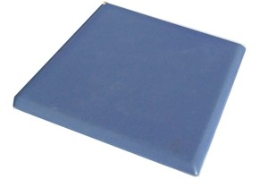 "Aqua  -  3 3/4"" Porcelain Double Bullnose picture"