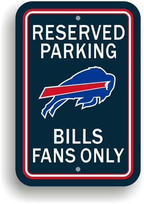 Buffalo Bills Plastic Parking Sign - Reserved Parking picture