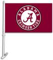 Alabama Crimson Tide Car Flag W/Wall Brackett