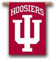 "Indiana Hoosiers 2-Sided 28"" X 40"" Banner W/ Pole Sleeve"