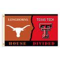 Texas Tech - Texas House Divided 3 Ft. X 5 Ft. Flag W/Grommets