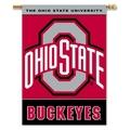 "Ohio State Buckeyes 2-Sided 28"" X 40"" Banner W/ Pole Sleeve"