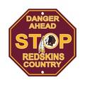 Washington Redskins Plastic Stop Sign