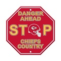 Kansas City Chiefs Plastic Stop Sign