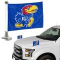 "Kansas Jayhawks Ambassador 4"" x 6"" Car Flag Set of 2"