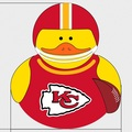 "Kansas City Chiefs 4"" Rubber Duck"