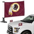 "Washington Redskins Ambassador 4"" x 6"" Car Flag Set of 2"