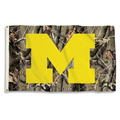 Michigan Wolverines Realtree Camo Background 3 Ft. X 5 Ft. Flag W/Grommets