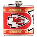 Kansas City Chiefs Stainless Steel 6 oz. Flask with Metallic Graphics