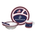 U.S MARINE CORPS Kid's 5 Pc. Dish Set