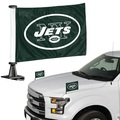 "New York Jets Ambassador 4"" x 6"" Car Flag Set of 2"