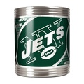 New York Jets Stainless Steel Can Holder with Metallic Graphics