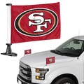 """San Francisco 49er's Ambassador 4"""" x 6"""" Car Flag Set of 2"""
