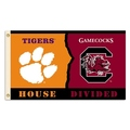Clemson - S. Carolina 3 Ft. X 5 Ft. Flag W/Grommets - Rivalry House Divided
