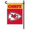 "Kansas City Chiefs Home / Yard Flag 13"" x 18"" 2-Sided"