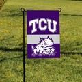 Texas Christian Horned Frogs 2-Sided Garden Flag