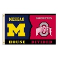 Michigan - Ohio St.3 Ft. X 5 Ft. Flag W/Grommets - Rivalry House Divided