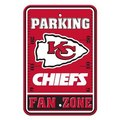 Kansas City Chiefs Plastic Parking Sign - Fan Zone