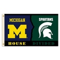 Michigan - Michigan St. House Divided 3 Ft. X 5 Ft. Flag W/Grommets
