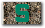 Michigan State Spartans Realtree Camo Background 3 Ft. X 5 Ft. Flag W/Grommets