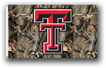 Texas Tech Red Raiders 3 Ft. X 5 Ft. Flag W/Grommets - Realtree Camo Background
