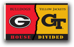 Georgia - Ga. Tech 3 Ft. X 5 Ft. Flag W/Grommets - Rivalry House Divided