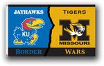 Kansas - Missouri 3 Ft. X 5 Ft. Flag W/Grommets - Rivalry House Divided