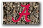 Alabama Crimson Tide 3 Ft. X 5 Ft. Flag W/Grommets - Realtree Camo Background