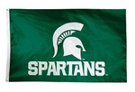 Michigan State Spartans 2-sided Nylon Applique 3 Ft x 5 Ft Flag w/ grommets