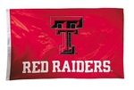 Texas Tech Red Raiders 2-sided Nylon Applique 3 Ft x 5 Ft Flag w/ grommets