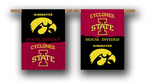 "Iowa - Iowa State House Divided 2-Sided 28"" X 40"" Banner W/ Pole Sleeve"