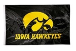 Iowa Hawkeyes   2-sided Nylon Applique 3 Ft x 5 Ft Flag w/ grommets