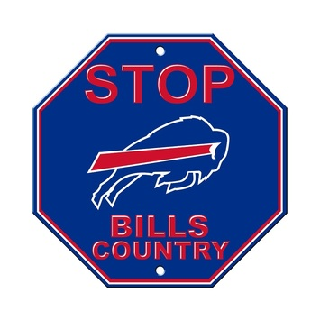 Buffalo Bills Plastic Stop Sign picture