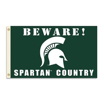 Michigan State Spartans Country 3 Ft. X 5 Ft. Flag W/Grommets picture