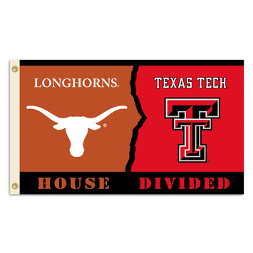 Texas Tech - Texas House Divided 3 Ft. X 5 Ft. Flag W/Grommets picture