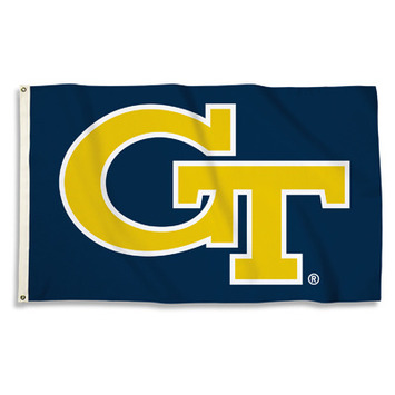 Georgia Tech Yellow Jackets 3 Ft. X 5 Ft. Flag W/Grommets picture