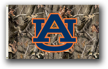 Auburn Tigers Realtree Camo Background 3 Ft. X 5 Ft. Flag W/Grommets picture