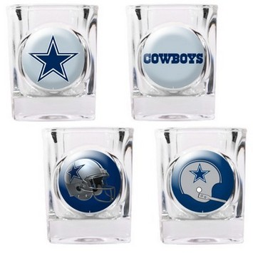 Dallas Cowboys 4pc Collector's Shot Glass Set picture
