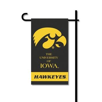 Iowa Hawkeyes   Mini Garden Flag w/ Pole picture