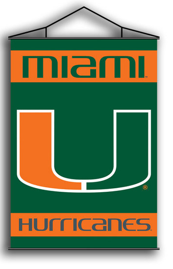 Miami Hurricanes Indoor Banner Scroll picture