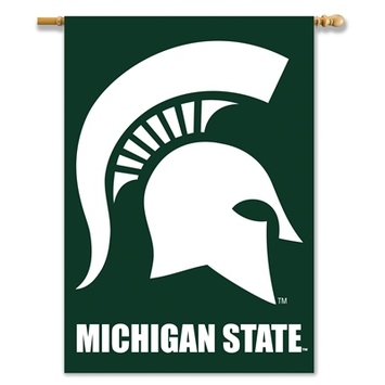 "Michigan State Spartans 2-Sided 28"" X 40"" Banner W/ Pole Sleeve picture"