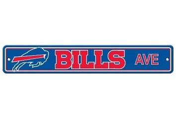 Buffalo Bills Plastic Street Sign picture