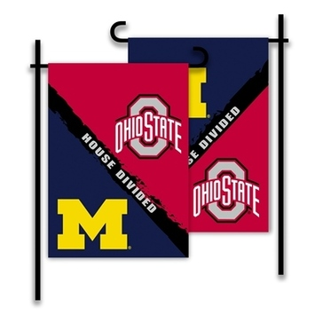 Michigan - Ohio St. 2-Sided Garden Flag - Rivalry House Divided picture