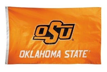 Oklahoma State Cowboys 2-sided Nylon Applique 3 Ft x 5 Ft Flag w/ grommets picture