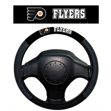 Philadelphia Flyers Poly-Suede Steering Wheel Cover picture