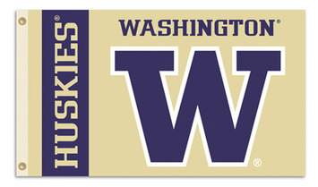 Washington Huskies 3 Ft. X 5 Ft. Flag W/Grommets picture