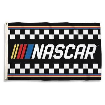 NASCAR FLAG WITH STRIPES picture