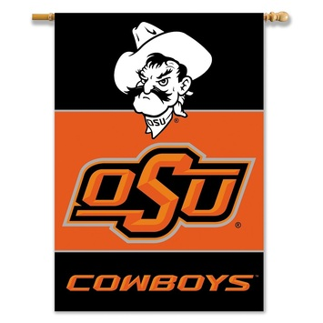 """Oklahoma State Cowboys 2-Sided 28"""" X 40"""" Banner W/ Pole Sleeve picture"""