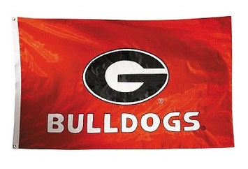Georgia Bulldogs 2-sided Nylon Applique 3 Ft x 5 Ft Flag w/ grommets picture